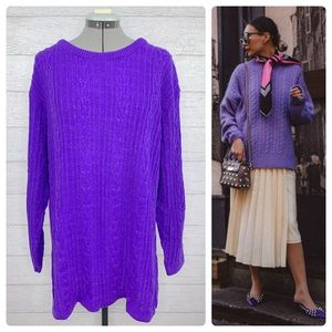 •DVF• Color Authority Cable Knit Tunic Sweater